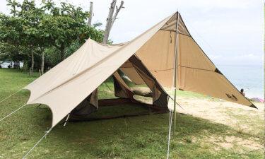 「トリアングロ」ogawaのA型テントをレビュー!試し張りの設営動画あり