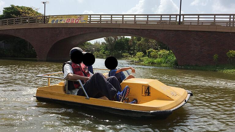 沖縄県総合運動公園 キャンプ場 ボート遊び