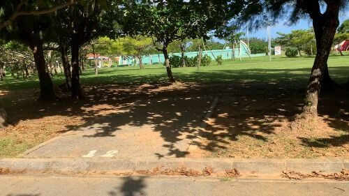 沖縄県総合運動公園 キャンプ場 予約見取り図 区画12