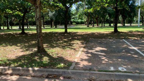 沖縄県総合運動公園 キャンプ場 予約見取り図 区画16
