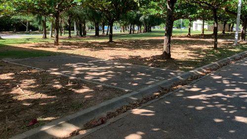 沖縄県総合運動公園 キャンプ場 予約見取り図 区画19