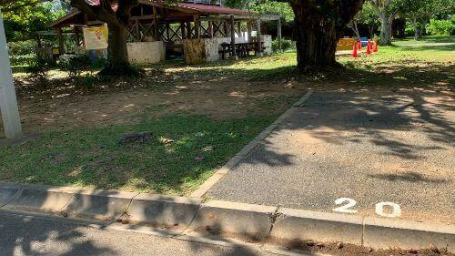 沖縄県総合運動公園 キャンプ場 予約見取り図 区画20