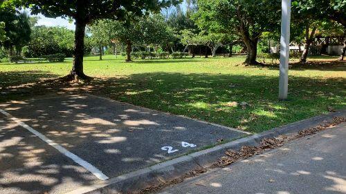 沖縄県総合運動公園 キャンプ場 予約見取り図 区画24