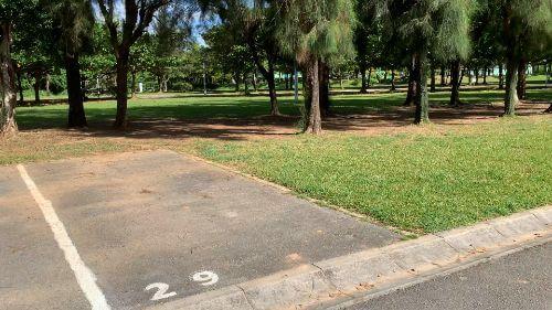 沖縄県総合運動公園 キャンプ場 予約見取り図 区画29