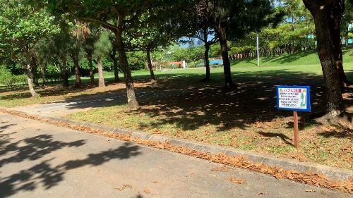 沖縄県総合運動公園 キャンプ場 予約見取り図 区画3
