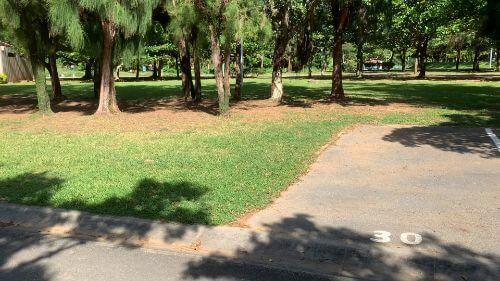 沖縄県総合運動公園 キャンプ場 予約見取り図 区画30