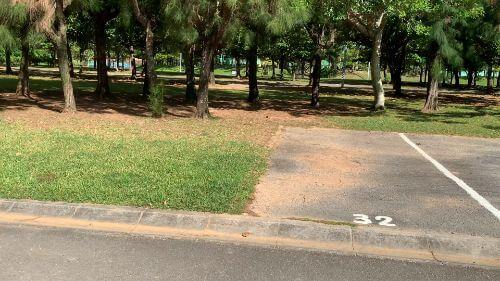 沖縄県総合運動公園 キャンプ場 予約見取り図 区画32