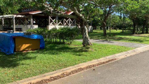 沖縄県総合運動公園 キャンプ場 予約見取り図 区画34