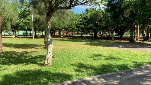 沖縄県総合運動公園 キャンプ場 予約見取り図 区画38