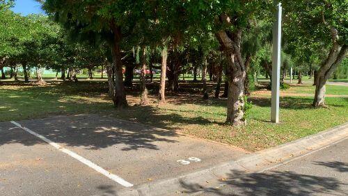 沖縄県総合運動公園 キャンプ場 予約見取り図 区画39