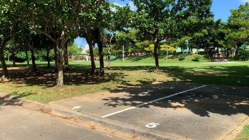 沖縄県総合運動公園 キャンプ場 予約見取り図 区画4