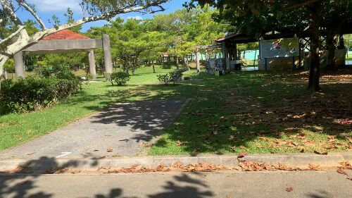 沖縄県総合運動公園 キャンプ場 予約見取り図 区画7