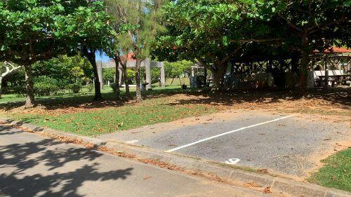 沖縄県総合運動公園 キャンプ場 予約見取り図 区画8